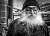 Jimmy (JohnKosterImages) Tags: biker leather black white beard gang harley davidson street