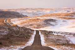 Snow & Sand (Erik Johnson Photography) Tags: red nebraska sandhills snow sunrise rural national geographic grazing farming ranching midwest flyover state winter grass prairie country