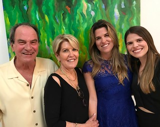 Artist Emilio Cianfoni with wife Deborah and daughters Leanna and Sabrina at the opening of his studio in Wynwood