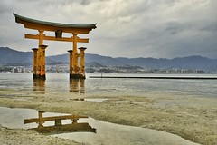 The Great Torii, Miyajima island, Japan (ingham_steve) Tags: japan fuji xt2 torii gate water landscape iconic