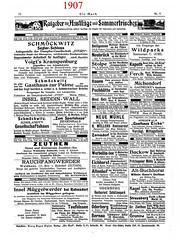 """""""Die Mark"""" 1907_1908 - 4. Jg. Nr. 9 S. 72 (zimmermann8821) Tags: reklame anzeigen werbung wandern tourismus berlin brandenburg pension pensionen annonce grafik grafikdesign deutschesreich deutscheskaiserreich reichshauptstadt"""