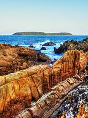 Broulee island (elphweb) Tags: nsw australia hdr highdynamicrange rocks rock rocky rockformation seaside