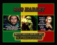 Bob Flag1 (codyjacobson@zenmountainmedia.com) Tags: bob marley collage colorful red yellow green quotes text fonts freedom philosophy rastafarian music liberation