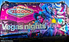 Casino Billboard Ad Defaced - Ottawa 03 18 (Mikey G Ottawa) Tags: mikeygottawa canada ontario ottawa street ad marketing advert reklamung billboard casino lacleamy colour color farbe couleur gamble gambler gambling vandal