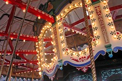 In The Hippodrome (AntyDiluvian) Tags: california santamonica pier santamonicapier hippodrome carousel merrygoround lights mirrors ride