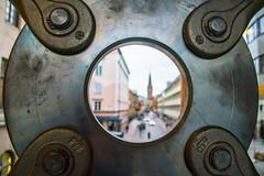 Bokeh (Maria Eklind) Tags: view bokeh hurch malmö street city sweden kyrka sanktpetri round hansa shape skånelän sverige se