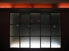 Fenster_01 (Kurrat) Tags: domicil dortmund ruhrgebiet musik domicildortmund fernster licht geometrisch wand raum rot linien