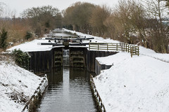 Towney Lock on the Kennet & Avon Canal (baldychops) Tags: snow cold spring wintry outdoor march water canal kennet kennetavon kennetandavon kacanal ka kennetavoncanal berkshire lock towney towneylock