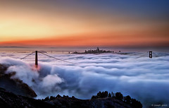 SF Bay Fog Event (Joseph Greco) Tags: fog goldengatebridge sanfrancisco bay city landscape cityscape skyline bridge bayarea marinheadlands