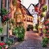 "~ memories ~  Eguisheim, Alsace, France One of the most beautiful small cities in Alsace along the famous ""Alsace wine route""! (Tankartartid) Tags: flowermania village houses house buildings hus highdynamicrange hdr stad väg gata street trädgård garden flowers blommor vinvägenalsace vinvägen alsacewineroute city europe frankrike france alsace eguisheim instagram ifttt"