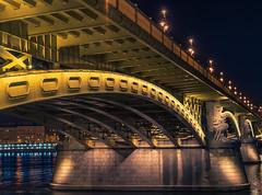 Margit Bridge (JasyZ) Tags: bridge night nightscape sony zeiss 55 18 budapest river light