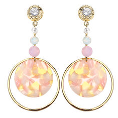 JASSY® Luxury Crystal Pearl Earrings Gold Plated Circle (1263089) #Banggood (SuperDeals.BG) Tags: superdeals banggood jewelry watch jassy® luxury crystal pearl earrings gold plated circle 1263089