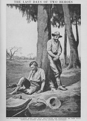 The Australian Explorers, Burke and Wills on the tragic homeward journey in 1861. - Children's Encyclopedia by Arthur Mee 1946 (AndyBrii) Tags: childrens encyclopedia arthurmee 1946