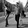 body language (digitris) Tags: streetphotography candid street city people man woman road conversation bodylanguage monochrome bw blackandwhite digitris digitri