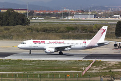 A320 TS-IMT Tunisair (Dawlad Ast) Tags: aeropuerto internacional barcelona bcn el prat lebl españa spain cataluña catalunya avion plane airplane marzo march 2018 spotting airbus 320214 tsimt tunisair sn 5204 named aziza othmana a320 320