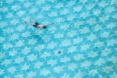 Delhi, India (gstads) Tags: delhi newdelhi india indian pool swimmingpool blue star stars repetition geometry geometric float floating water underwater pattern