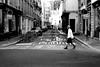 The man who wore well the skirt (pascalcolin1) Tags: paris homme man jupe skirt passagepiéton pedestrian passage photoderue streetview urbanarte noiretblanc blackandwhite photopascalcolin 50mm canon50mm canon