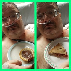 Pi Day.. in the hospital post-surgwry (canadianlookin) Tags: pi pieday rhubarb potpie hospital
