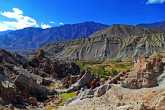 """My imagination is a monastery and I am its monk."" - John Keats (Abeer!) Tags: basgo bazgo monastery ladakh ladakhhimalayas himalaya himalayas india abeer abeerbarman landscape architecture blue clouds green highaltitude hill sky mountain nature scenery water"