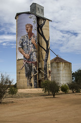Silo art Patchewalick (Bev-lyn) Tags: silo art grain outdoors westernvictoria bins storage