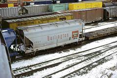 CB&Q Class LO-7 184393 (Chuck Zeiler) Tags: cbq class lo7 184393 burlington railroad covered hopper freight car cicero train chuckzeiler chz