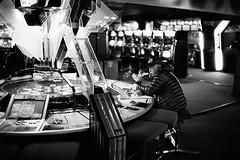 Japan 2018 (SimonSawSunlight) Tags: blackandwhite analogue film m rangefinder leicam leicam2 street photography streetphotography gambling japan arcade kawasaki smoke 35mm colorskopar kodaktrix documentary trix400