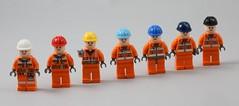 LEGO Construction Helmets (AzureBrick) Tags: lego construction helmets colours colour spectrum
