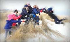 """""""Vraiment trop de vent sur cette côte"""" """"Really too much wind"""" Dans les dunes De Banjaard, Kamperland, Noord-Beveland, Zeelande, Nederland (claude lina) Tags: claudelina nederland hollande paysbas zeeland debanjaard plage dune merdunord noordzee zeelande saut jump"""