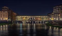 Ponte Vecchio (mcalma68) Tags: italy florence ponte vecchio travel night long exposure river bridge architecture arno