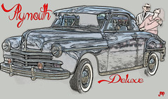 Here's The New Plymouth (Mike Pesseackey aka UAGUY1) Tags: art digitalart automobiles cars plymouth photoshop