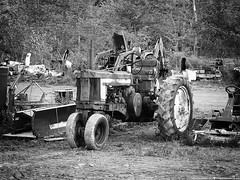 All Work, No Play (Explore 4/13/2018) (Don Henderson) Tags: johndeere tractor farmtractor mullallytractorsales jeffersonville newyork fujifilms200exr barnstorm eddieadamsworkshop