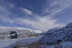 Røldalsvannet (Svein K. Bertheussen) Tags: røldal hordaland norge norway winter vinter snø snow innsjø lake is ice frosset frozen himmel sky skyer clouds landskap landscape røldalsvatnet
