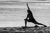 Stretch (armct) Tags: exercise morning stretch movement recreation health silhouette sand beach creek monochrome blackandwhite solo balance routine sundaylights