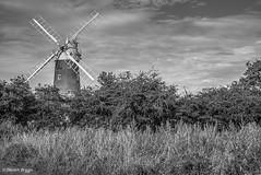 Bircham In Mono. (I'mDKB) Tags: 2016 50mmf18d bircham nikond600 september imdkb northnorfolk norfolk windmill sails monochrome blackandwhite bw blackwhite 50mm lightroom5 lr5