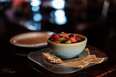 Olives & Tomatoes (Perry J. Resnick) Tags: 2018 pjresnick perryjresnick pjresnickgmailcom pjresnickphotographygmailcom ©2018pjresnick ©pjresnick 2017 ©2017pjresnick light fuji fujifilm highspeediso noir atmosphere atmospheric digital shadow texture shadows angle perspective fujinonxf35mmf14r 35mm xf35mm xf35mmf14 white xf fujinon resnick soft depthoffield window indoor bar cocktail bokeh blur blurry food olives tomatoes issaquahwa crackers plate bowl