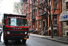 Red Mack (Canadian Pacific) Tags: usa us unitedstates america american newyork city manhattan upperwestside red lorry truck 2018aimg7330 mack dumpster cmom childrensmuseumofmanhattan turbo intercooler