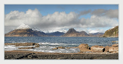 A touch of snow at Elgol (Katybun of Beverley) Tags: elgol isleofskye skye scotland highlands westhighlands landscape shoreline shore rocks clouds snow snowcapped scenery scenic outdoors