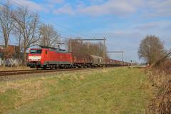 DBC 189 054 + staaltrein | Harselaar, 24-03-2018 (Arnoud - Fotografie) Tags: dbc train trein zug spoorlijn staaltrein db cargo canon rail railway railroad ns harselaar