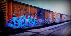 (timetomakethepasta) Tags: dehse freight train graffiti art rail box boxcar rbox uti