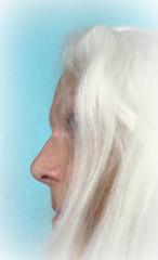 Definitely 100% Natural Hair Colour (soniaadammurray - On & Off) Tags: iphone picmonkey selfportrait hair white flickrfriday 100 artchallenge