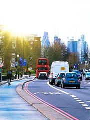 London Morning Sunshine (The Phoenix Girl) Tags: cityscape london uk unitedkingdom england great traffic street photography urban gherkin sun sunshine composition londoner londonist buildings skyscraper view europe nikon
