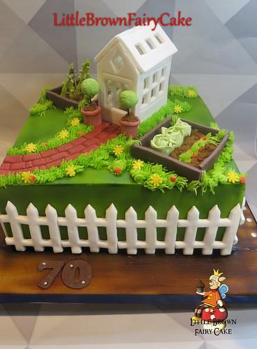 a garden cake
