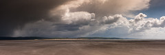 Storm Approaching - Aberdyfi beach (Alan Hughes Mach) Tags: uk cymru wales snowdonia eryri snowdonianationalpark aberdyfi dyfi clouds storm weather sky ciel cielo beach ocean seascape sunshine sunny bright landscape landschaft paysage long panorama eos canon 40d april spring walking walk hike hiking outside paisaje mar sand skyline seaside cardiganbay coastline coast nature natur naturaleza cloudscape tywyn natural mer