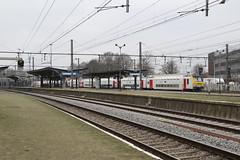 Schaerbeek, Brussels, Belgium (Paul Emma) Tags: belgium schaerbeek brussels railway railroad electrictrain train