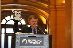 Senator Wiger at Howling for Wolves Rally
