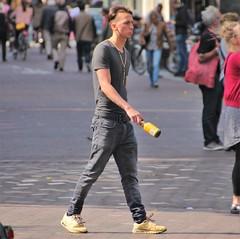 IMG_2175 (Skinny Guy Lover) Tags: outdoor guy man male dude slender jeans greyjeans grayjeans walking belt leatherbelt nikes nikesneakers nikeairmax airmax90 muscular