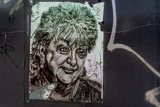 STREET ART BY RAY KANE [SKETCHES NEAR THE FOUR COURTS TRAM STOP]-138722
