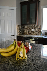 Our Kitchen (Vegan Butterfly) Tags: house home kitchen appliances bananas fruit vegetarian vegan food yummy tasty delicious healthy oranges yellow counter island