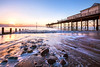 Teignmouth Sunrise (Andrew Hocking Photography) Tags: teignmouth pier sunrise spring march beach 2018 rocks slowshutter water sea seaside uk gb england seafront ocean crisp clearsky bluesky landscape seascape devon explore inexplore colour