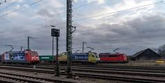 21_2007_02_26_Regensburg_Ost_DB_101_133_dispolok_ES_64_U2_-_004_182_504_Lz_DB_151_Doppel_Regensburg (ruhrpott.sprinter) Tags: ruhrpott sprinter deutschland germany allmangne nrw ruhrgebiet gelsenkirchen lokomotive locomotives eisenbahn railroad rail zug train reisezug passenger güter cargo freight fret regensburg ost db dispolok siemensdispolok regentalbahn mwb railion 101 151 152 185 232 363 1701 es 64 u2 es64u2 ludmilla containerzug outdoor logo natur graffiti